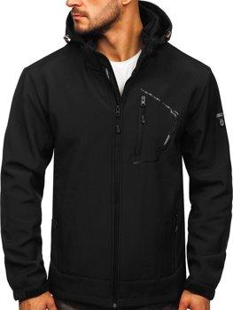 Черная куртка мужская Софтшелл Bolf BK124