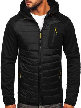 Черная мужская демисезонная куртка Bolf KS2150
