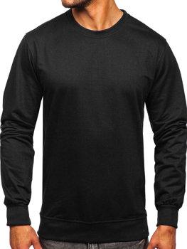Черная мужская толстовка без капюшона Bolf B10001