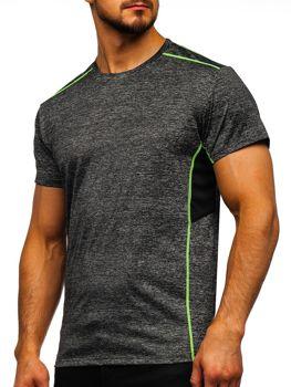 Черная мужская тренировочная футболка без принта Bolf KS2102