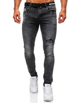 Черные джинсовые брюки мужские slim fit Bolf 60026W0