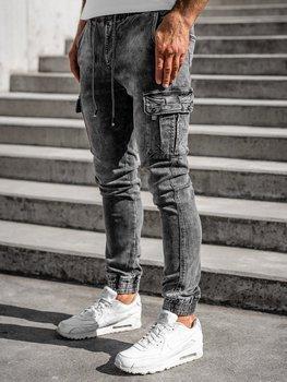 Черные джинсовые мужские джоггеры Bolf KA1311