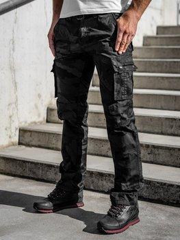 Черные мужские брюки-карго с поясом Bolf 2096