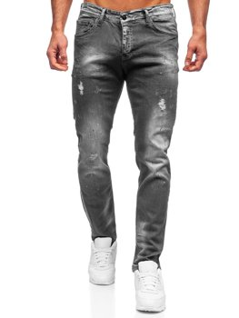 Черные мужские джинсовые брюки regular fit Bolf 4006