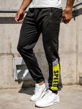 Черные мужские спортивные брюки джоггеры Bolf HY717