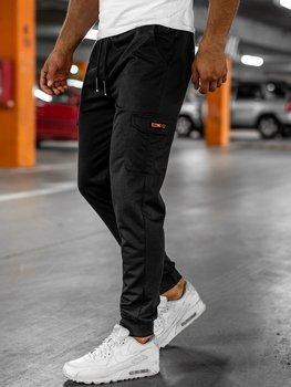 Черные мужские спортивные брюки карго Bolf JX323