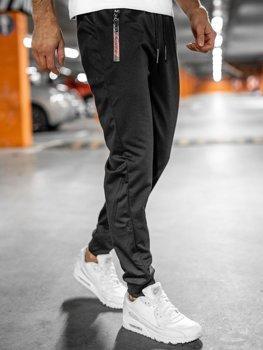 Черные мужские спортивные брюки Bolf JX9515
