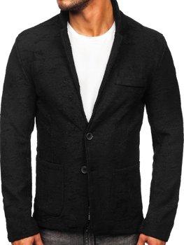Черный мужской повседневный пиджак BOLF KS-7309