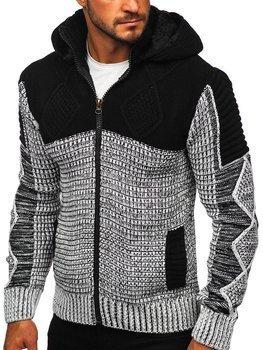 Черный мужской свитер толстой вязки Bolf 2049