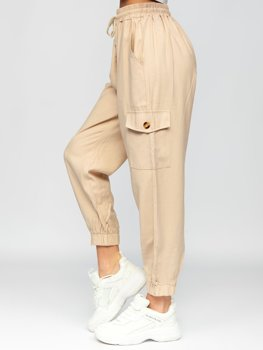 Экрю брюки карго женские Bolf HM003