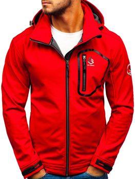 красная мужская демисезонная куртка Bolf 004A