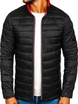 Мужская демисезонная спортивная куртка черная Bolf Ly1017