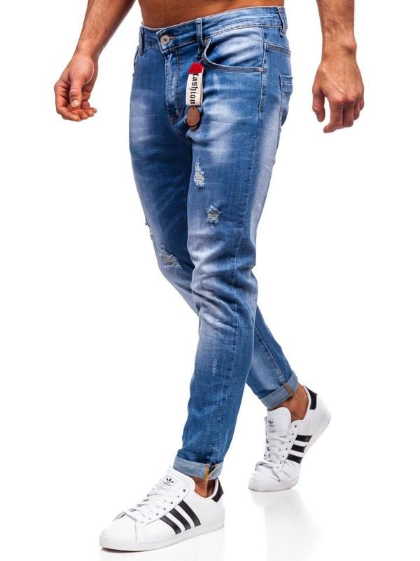 Джинсы мужские regular fit темно-синие Bolf KX297