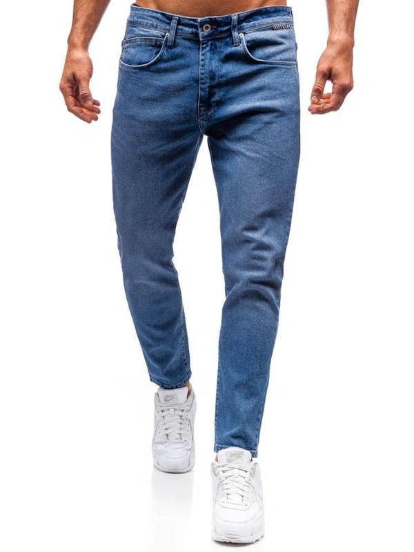 Джинсы мужские slim fit синие Blue Bolf 7157