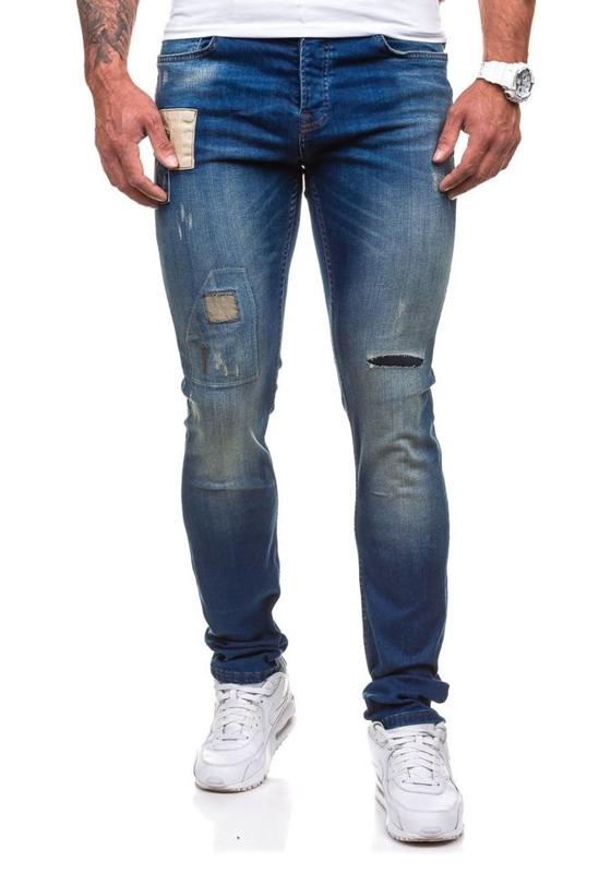 Джинсы мужские slim fit темно-синие Bolf 250