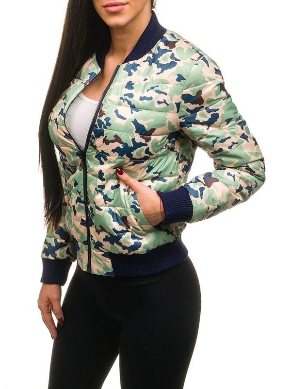 Женская демисезонная куртка зеленая Bolf 2030