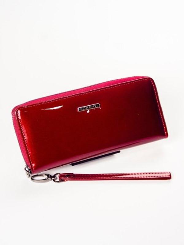 Женский кожаный кошелек красный 1209