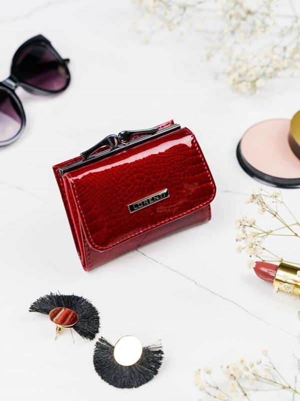 Женский кожаный кошелек красный 2103
