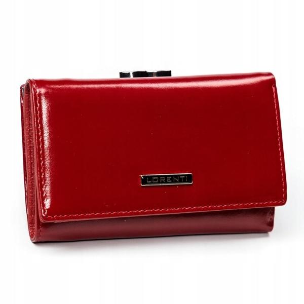 Женский кожаный кошелек красный 2907