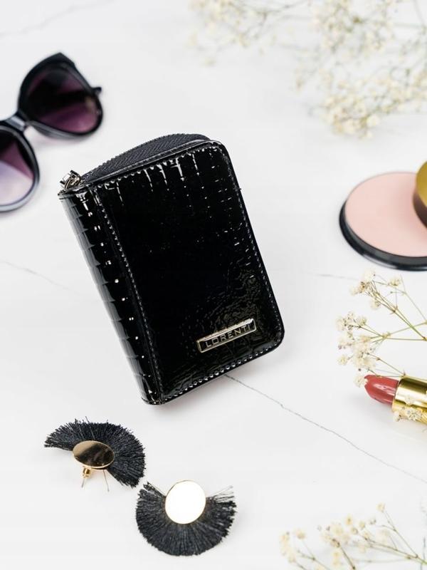 Женский кожаный кошелек черный 2110