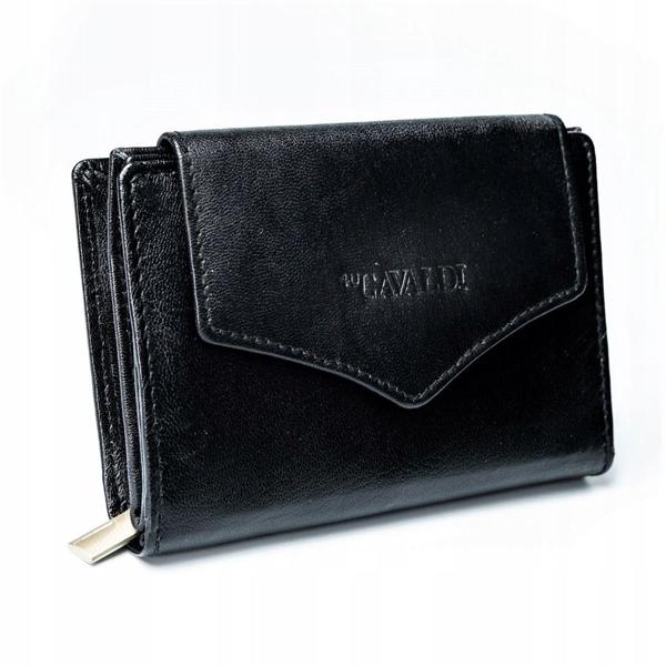 Женский кожаный кошелек черный 2781