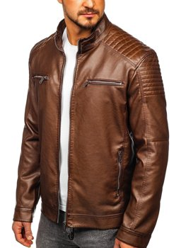 Коричневая мужская куртка косуха Bolf 2008