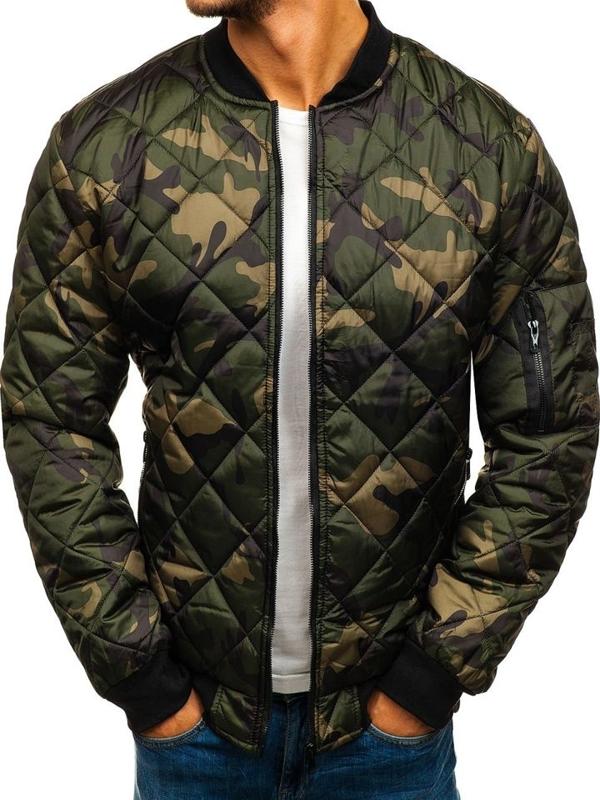 Мужская демисезонная куртка бомбер камуфляж-мультиколор Bolf MY09-A