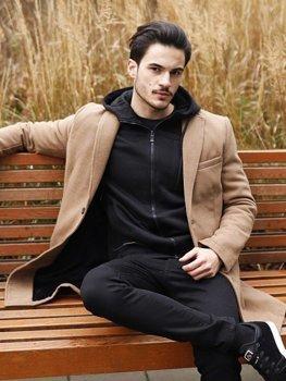 Мужская зимняя куртка кэмел Bolf 1047B
