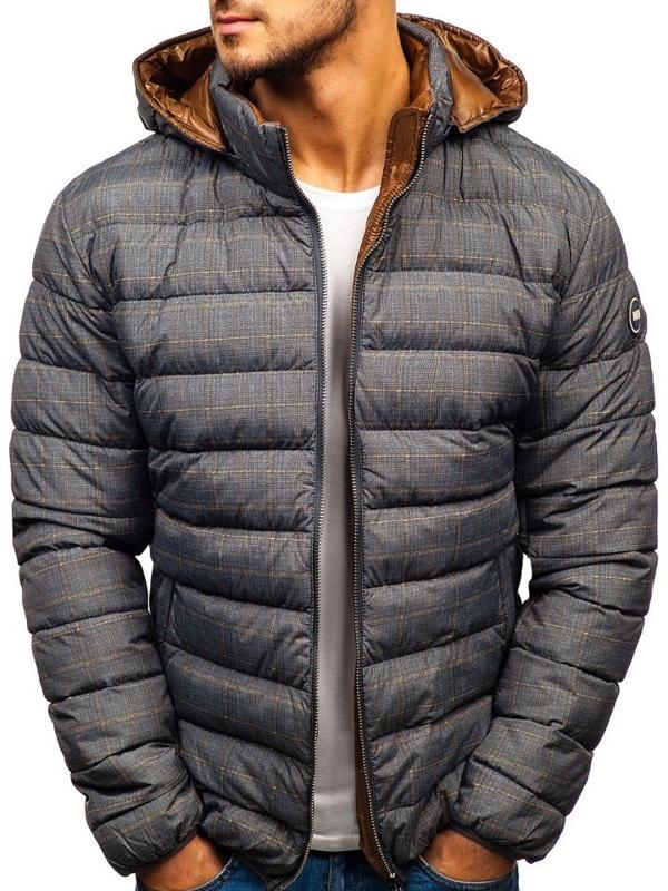 Мужская зимняя куртка серая Bolf 5713