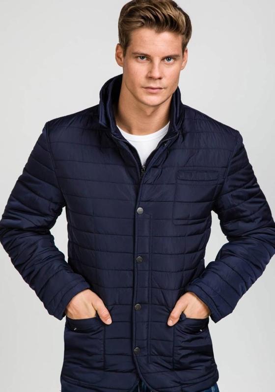 Мужская зимняя куртка темно-синяя Bolf 1676