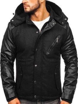 Мужская зимняя куртка черная Bolf 3356