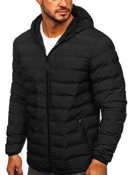 Мужская зимняя спортивная куртка черная Bolf SM67