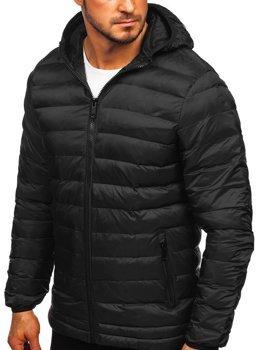 Мужская зимняя спортивная куртка черная Bolf SM72