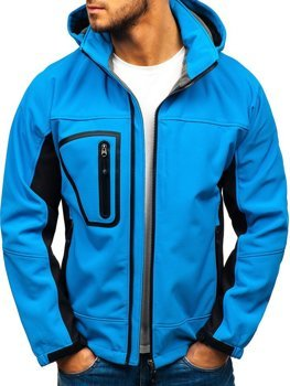 Мужская куртка софтшелл светло-синяя Bolf T019