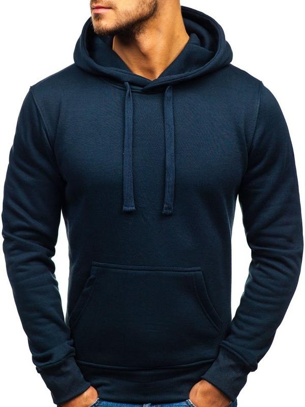 Мужская толстовка с капюшоном темно-синяя Bolf AK47