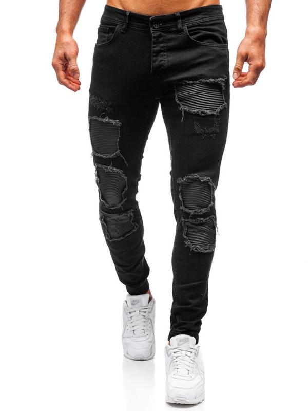 Мужские брюки джоггеры черные Bolf 820