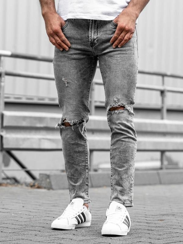 Мужские джинсовые брюки серые Bolf KA897