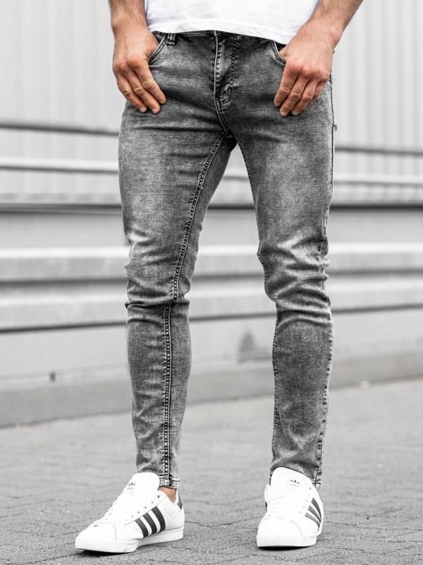 Мужские джинсовые брюки серые Bolf KX186