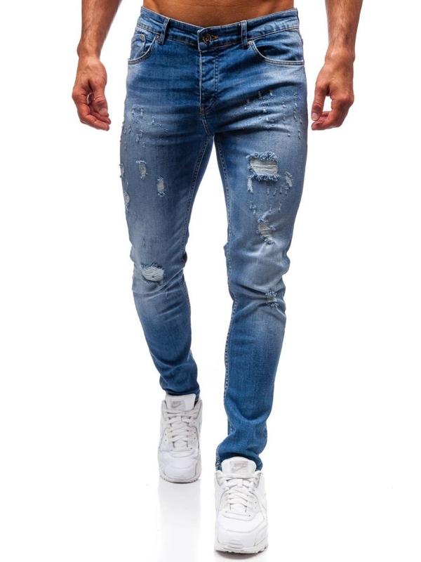 Мужские джинсовые брюки синие Bolf 1008