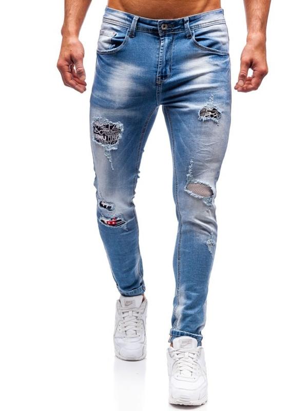 Мужские джинсовые брюки синие Bolf 3940