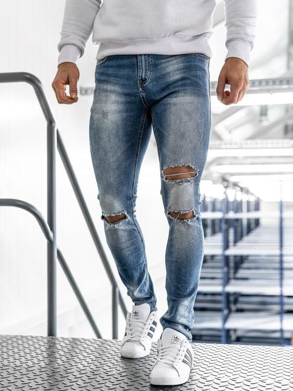 Мужские джинсовые брюки синие Bolf 3943