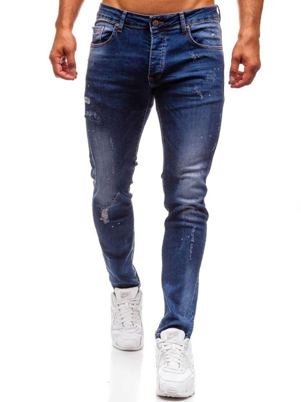 Мужские джинсовые брюки темно-синие Bolf 8023
