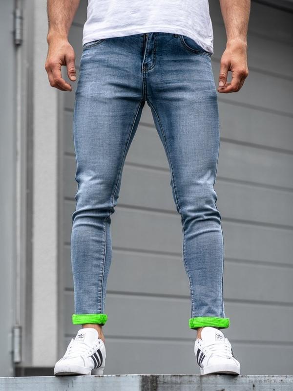 Мужские джинсовые брюки темно-синие Bolf KX162