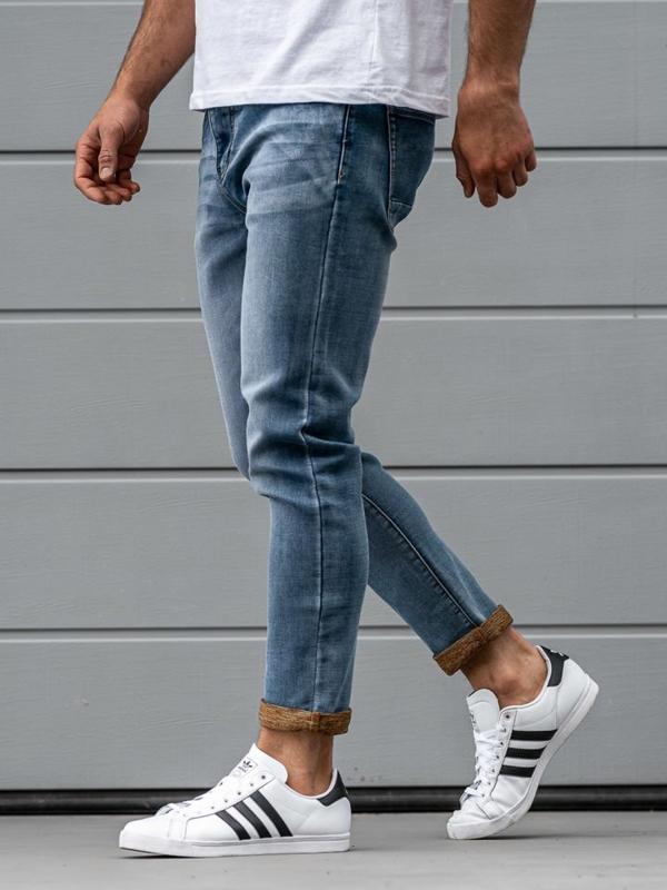 Мужские джинсовые брюки темно-синие Bolf KX163