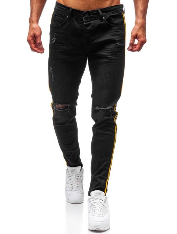 Мужские джинсовые брюки черные Bolf 1011
