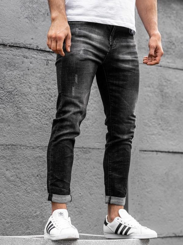 Мужские джинсовые брюки черные Bolf KX168