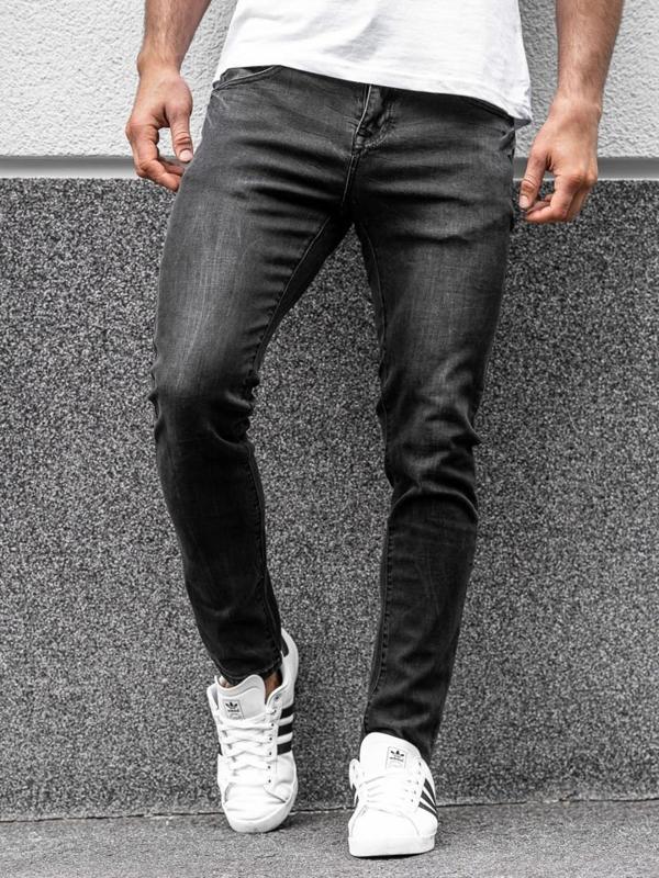 Мужские джинсовые брюки черные Bolf KX258