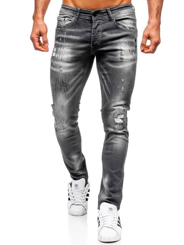 Мужские джинсовые брюки regular fit черные Bolf 4005