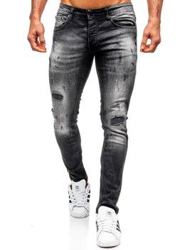 Мужские джинсовые брюки regular fit черные Bolf 4008