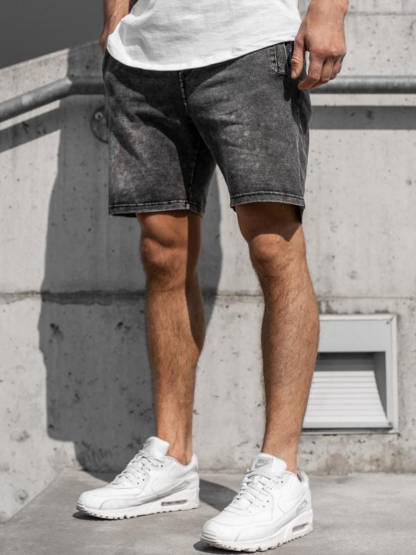 Мужские джинсовые шорты графитовые Bolf KK106